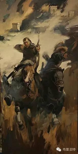 【ANU美图】青年蒙古画家敖特格·巴达玛油画作品分享 第12张