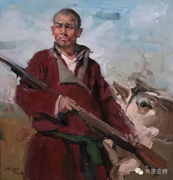 【ANU美图】青年蒙古画家敖特格·巴达玛油画作品分享 第11张