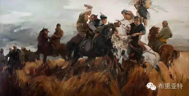 【ANU美图】青年蒙古画家敖特格·巴达玛油画作品分享 第16张