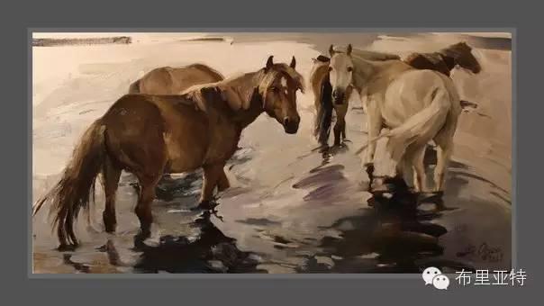 【ANU美图】青年蒙古画家敖特格·巴达玛油画作品分享 第17张