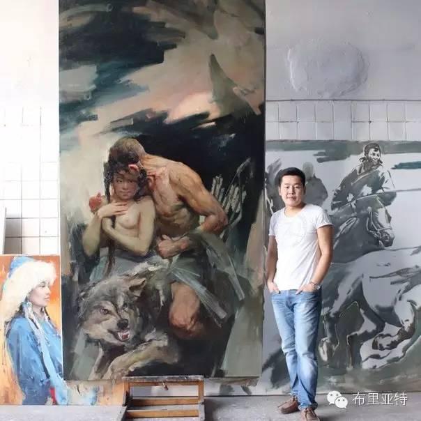 【ANU美图】青年蒙古画家敖特格·巴达玛油画作品分享 第21张