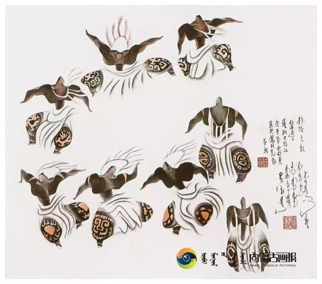 他的画里包含了整个草原,画家萨纳巴特尔作品欣赏 第2张