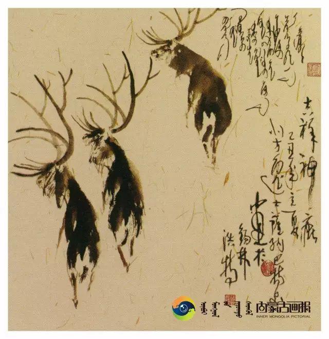 他的画里包含了整个草原,画家萨纳巴特尔作品欣赏 第7张