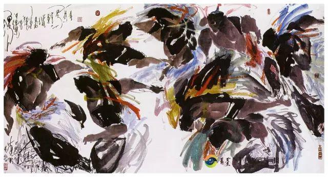 他的画里包含了整个草原,画家萨纳巴特尔作品欣赏 第8张