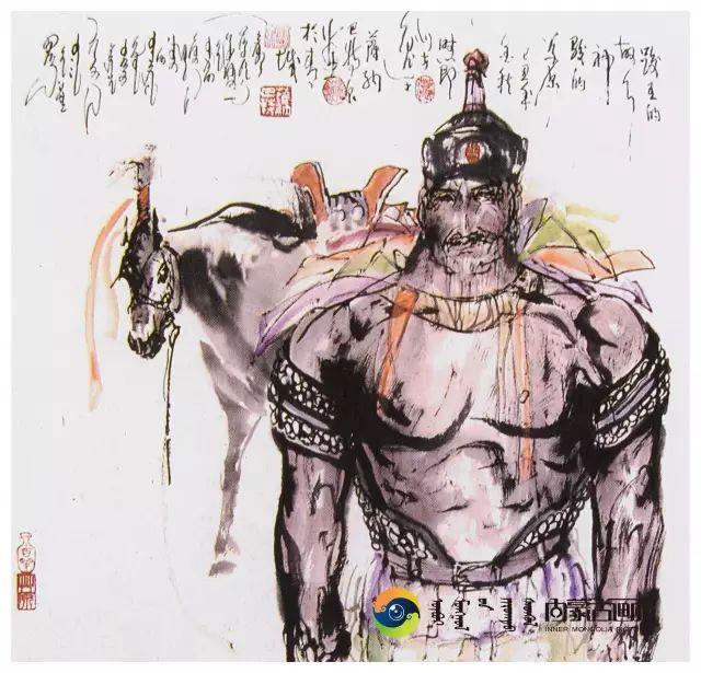 他的画里包含了整个草原,画家萨纳巴特尔作品欣赏 第10张