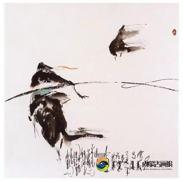 他的画里包含了整个草原,画家萨纳巴特尔作品欣赏 第18张