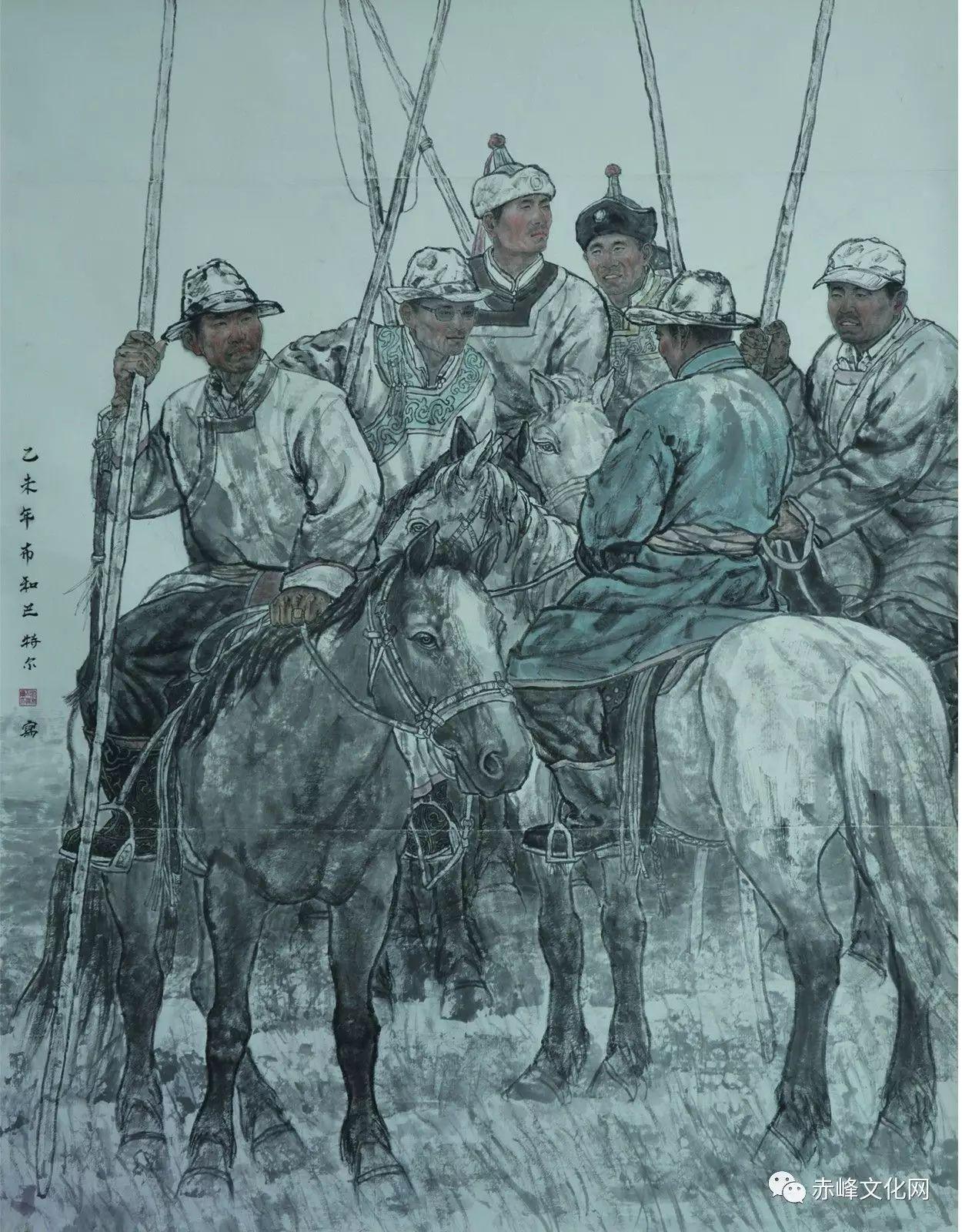 【文化赤峰】水墨丹青、栩栩如生——布和巴特尔国画展! 第3张
