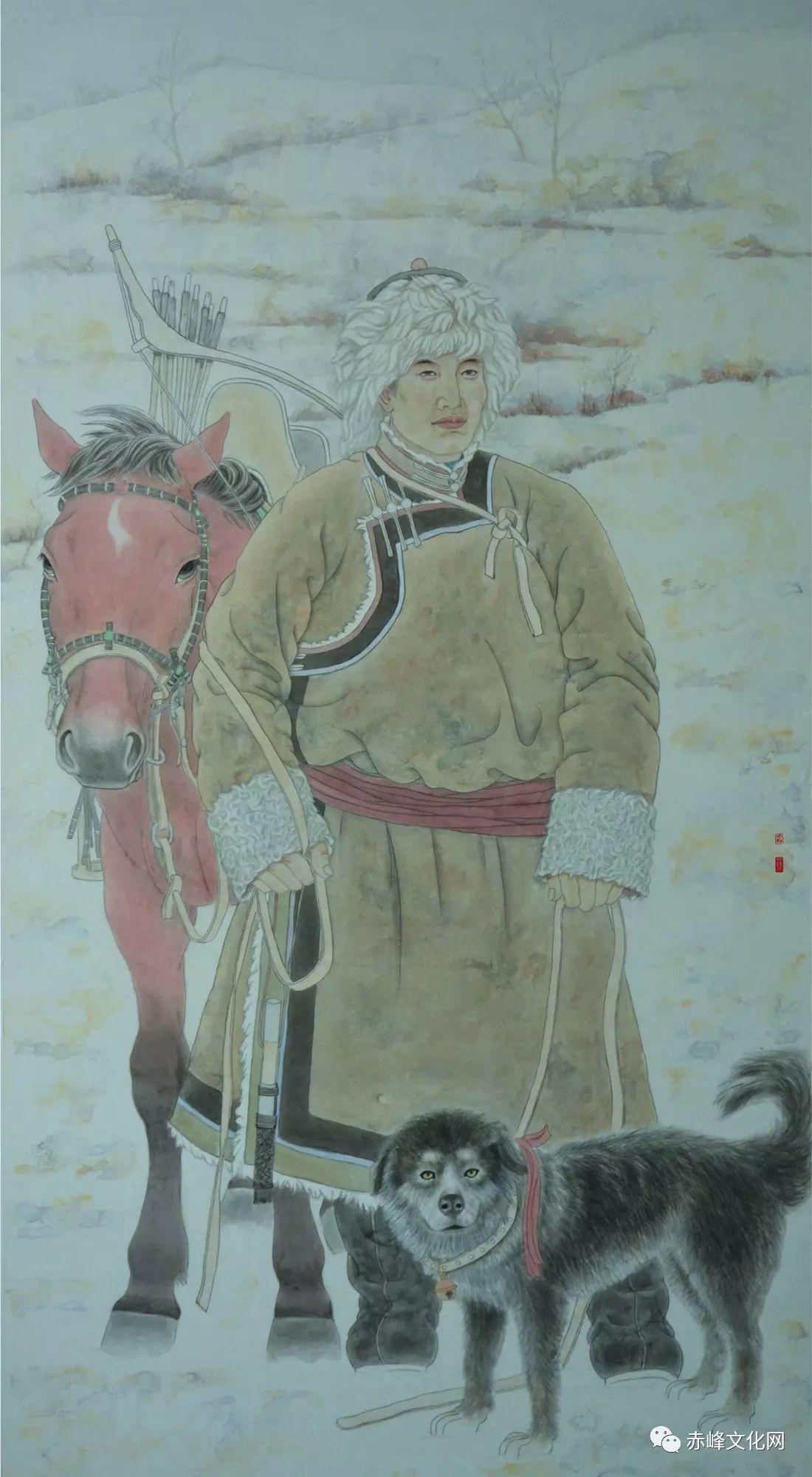 【文化赤峰】水墨丹青、栩栩如生——布和巴特尔国画展! 第4张