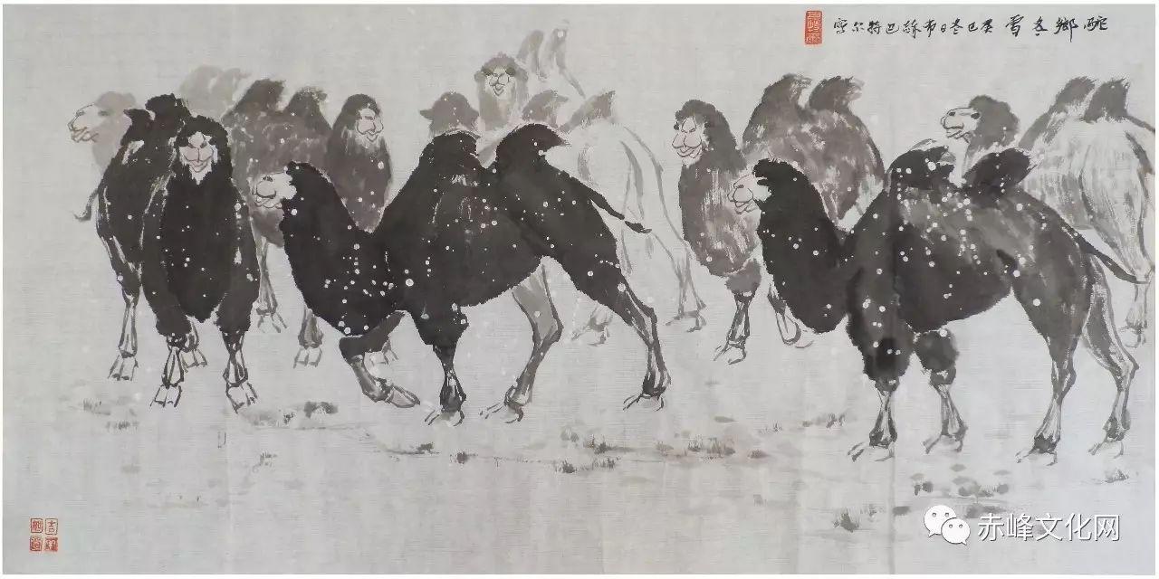 【文化赤峰】水墨丹青、栩栩如生——布和巴特尔国画展! 第10张