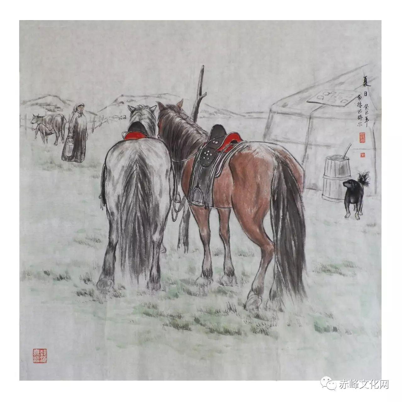 【文化赤峰】水墨丹青、栩栩如生——布和巴特尔国画展! 第11张