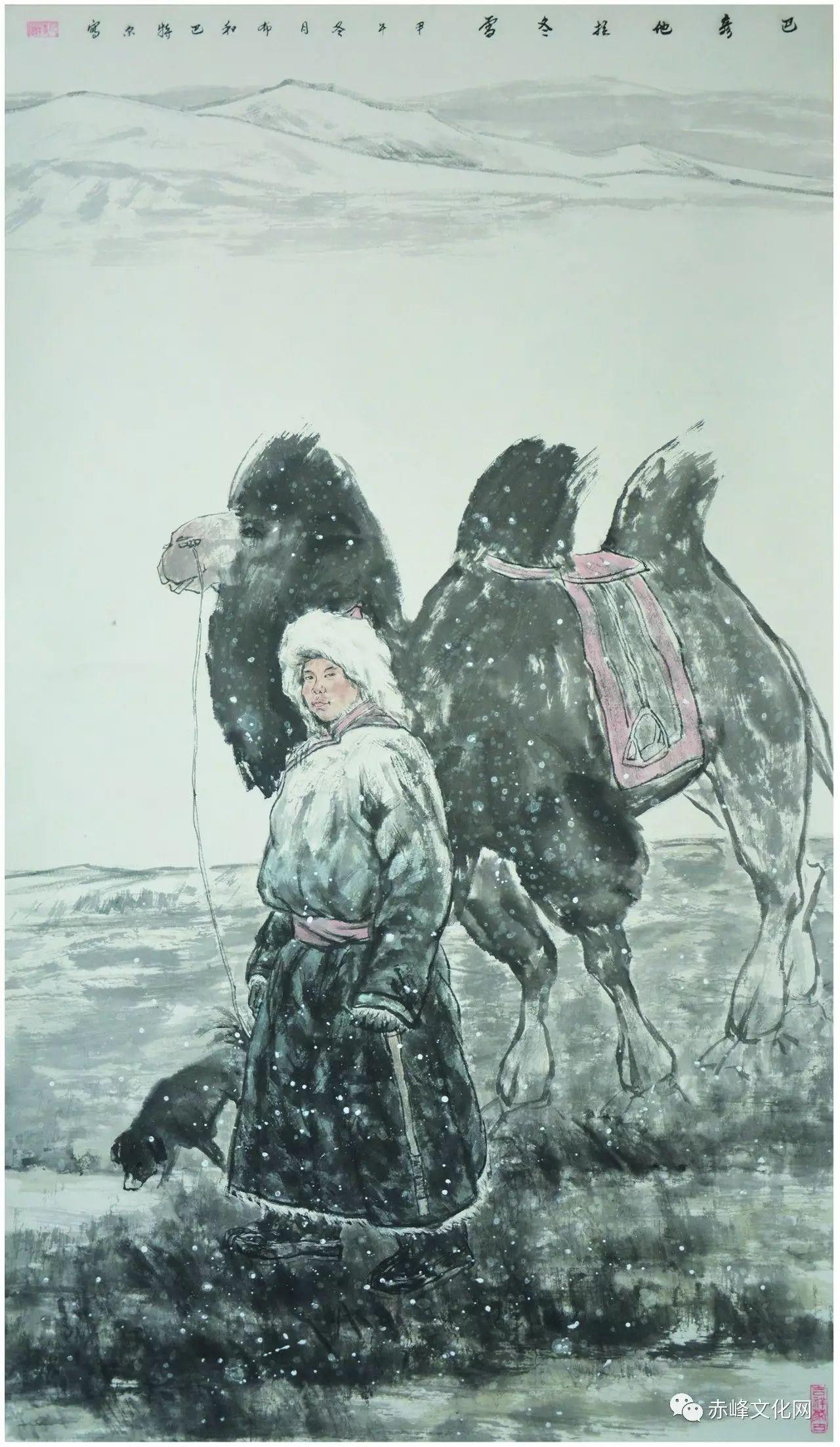 【文化赤峰】水墨丹青、栩栩如生——布和巴特尔国画展! 第12张