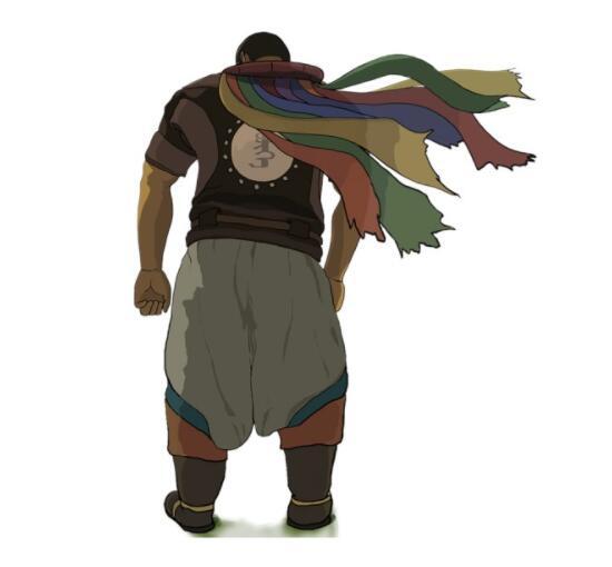 手绘一个蒙古汉子人物背影图片 第1张