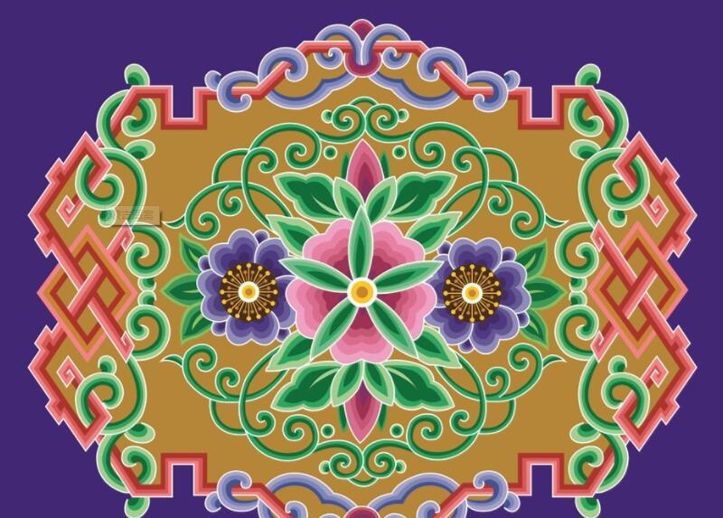 蒙古彩色图案图片1 蒙古图案