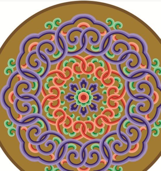 蒙古彩色图案高清图片3 第1张