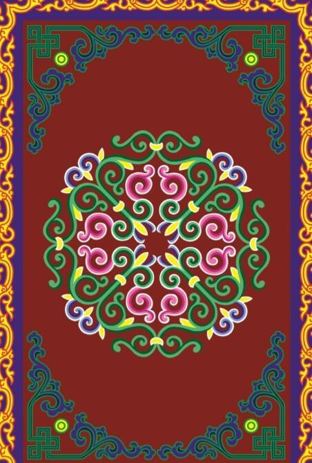 蒙古彩色图案高清图片4 第1张