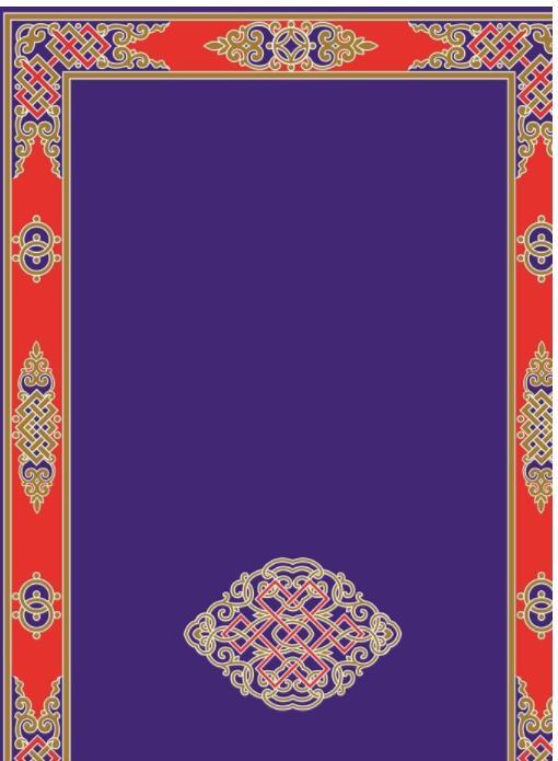 蒙古彩色图案高清图片5 第1张