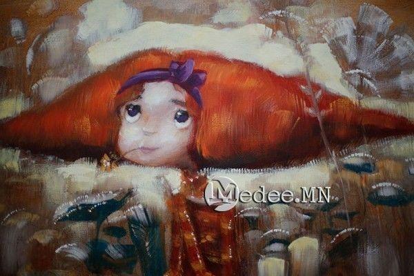 """蒙古国艺术家协会举办以""""秋""""为主题的艺术作品展欣赏 第2张"""