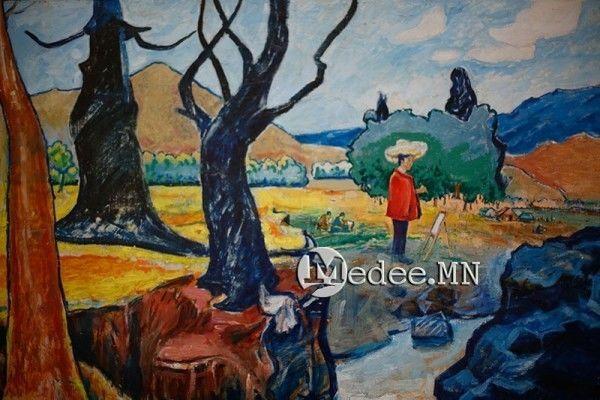 """蒙古国艺术家协会举办以""""秋""""为主题的艺术作品展欣赏 第1张"""