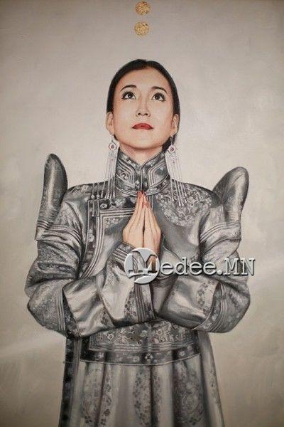 """蒙古国艺术家协会举办以""""秋""""为主题的艺术作品展欣赏 第18张"""