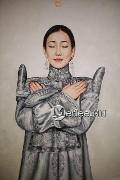 """蒙古国艺术家协会举办以""""秋""""为主题的艺术作品展欣赏 第19张"""