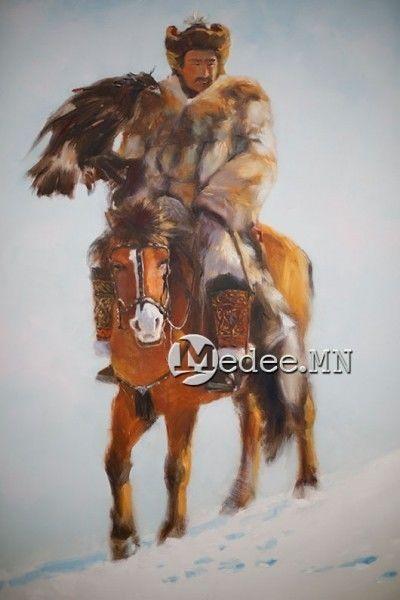 """蒙古国艺术家协会举办以""""秋""""为主题的艺术作品展欣赏 第24张"""