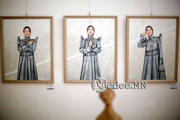 """蒙古国艺术家协会举办以""""秋""""为主题的艺术作品展欣赏 第20张"""