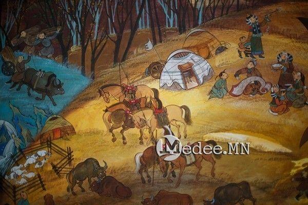 """蒙古国艺术家协会举办以""""秋""""为主题的艺术作品展欣赏 第27张"""