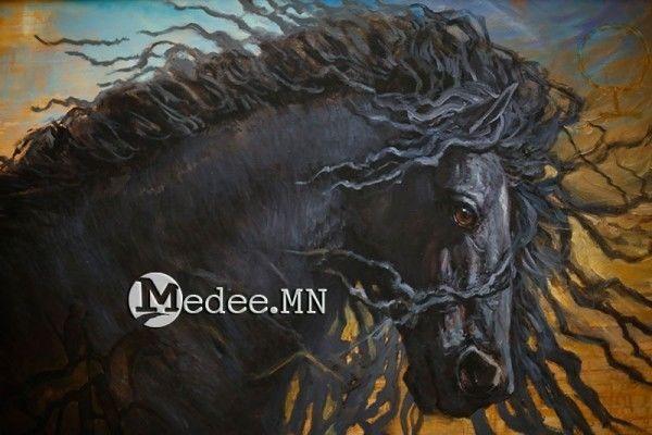 """蒙古国艺术家协会举办以""""秋""""为主题的艺术作品展欣赏 第30张"""