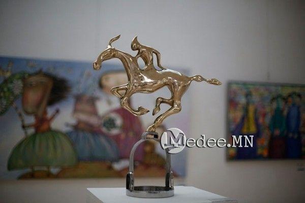 """蒙古国艺术家协会举办以""""秋""""为主题的艺术作品展欣赏 第29张"""