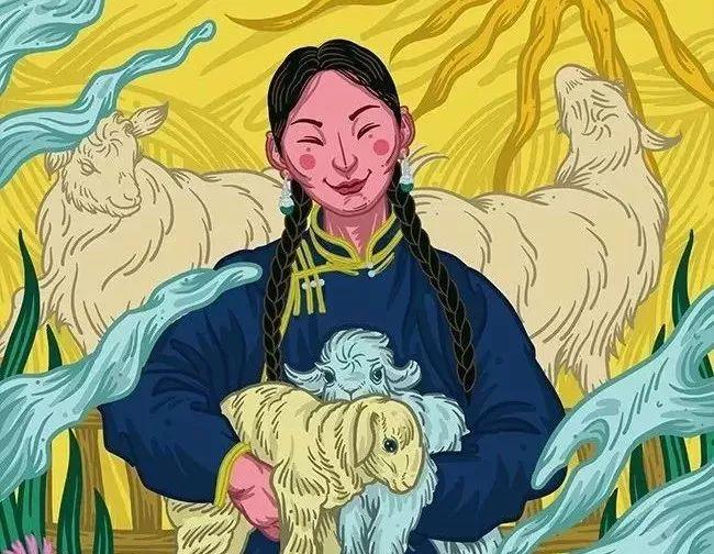 《游牧印迹》蒙古族游牧生活插画设计 第1张