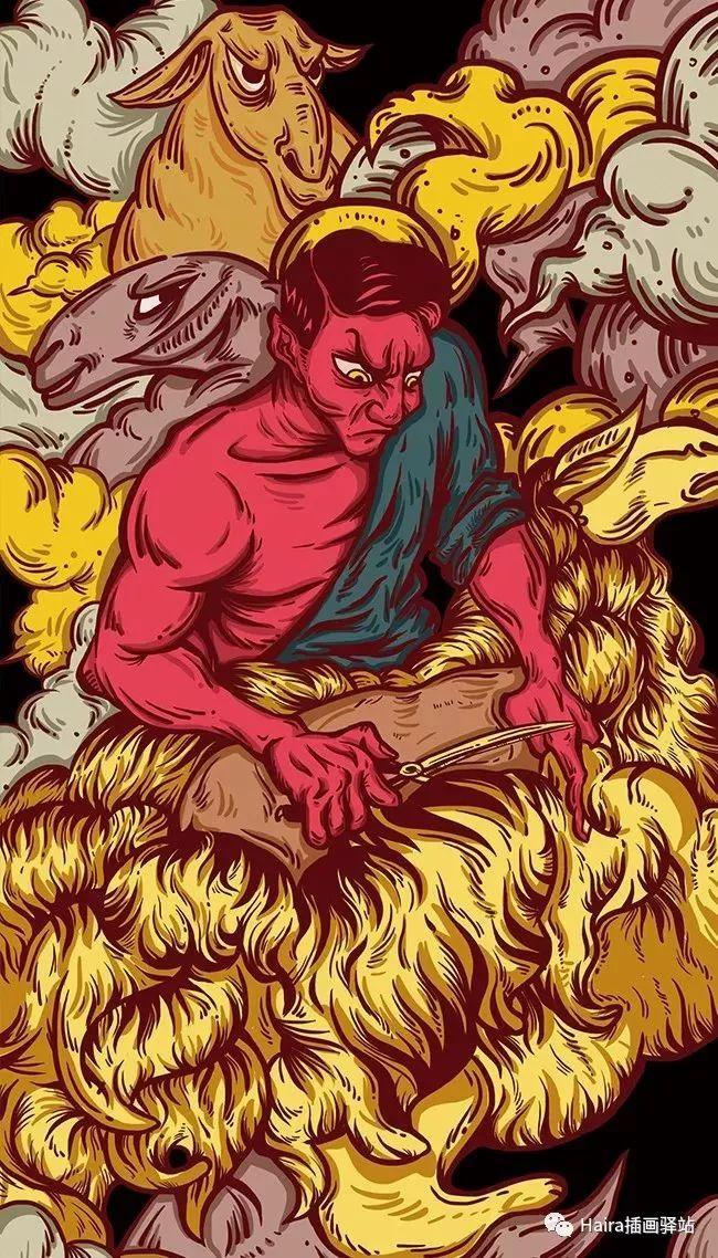 《游牧印迹》蒙古族游牧生活插画设计 第4张