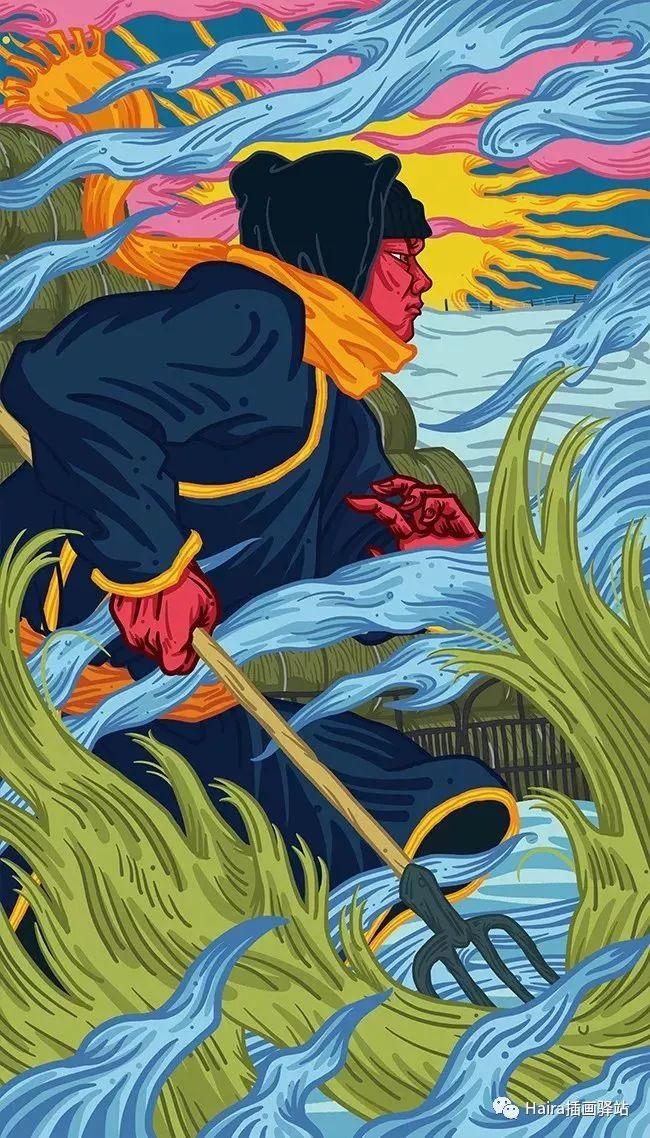 《游牧印迹》蒙古族游牧生活插画设计 第6张