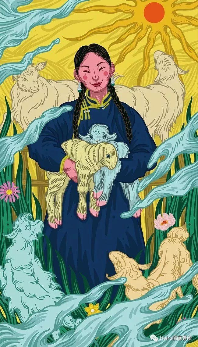《游牧印迹》蒙古族游牧生活插画设计 第8张