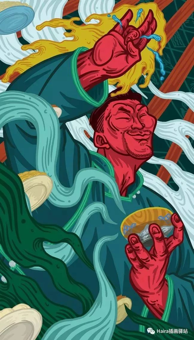 《游牧印迹》蒙古族游牧生活插画设计 第9张