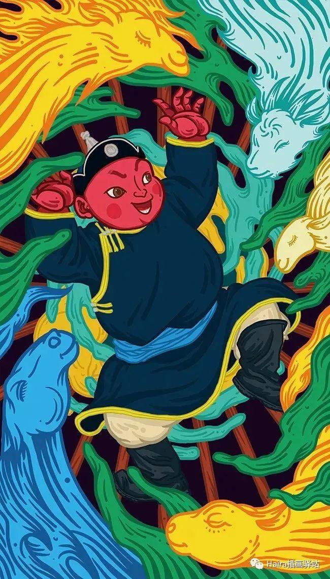 《游牧印迹》蒙古族游牧生活插画设计 第12张