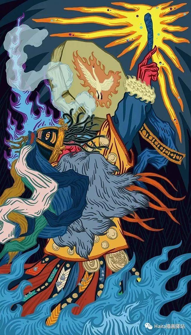 《游牧印迹》蒙古族游牧生活插画设计 第13张