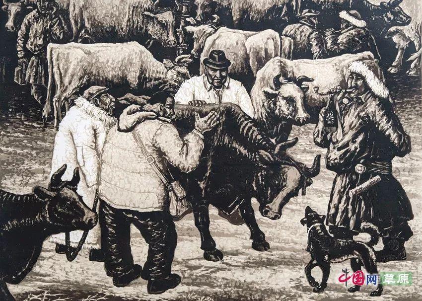 草原大地庆丰收⑦丨镌刻在版画中的丰收年(微展览) 第2张