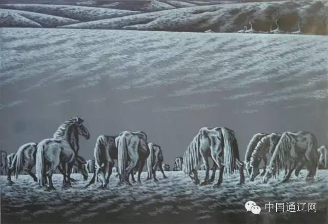 【出彩】科尔沁版画十杰之田宏图 第6张