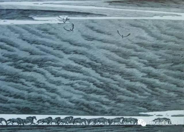 【出彩】科尔沁版画十杰之田宏图 第3张
