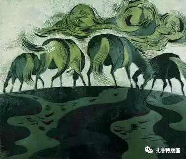 大草原的版画梦想—山丹版画作品 第19张