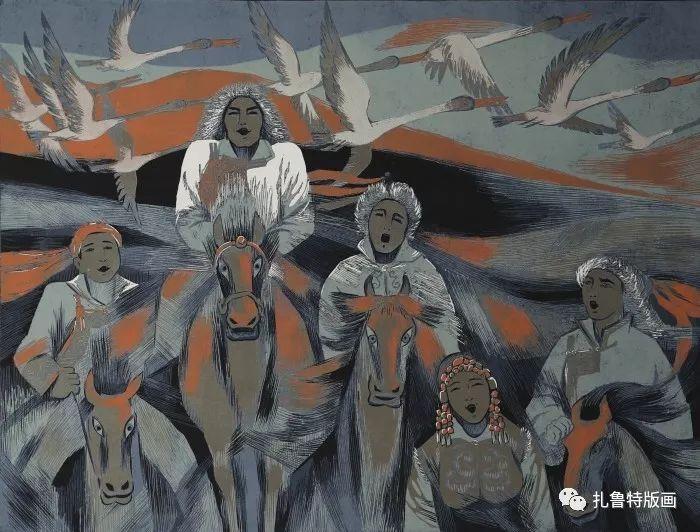 大草原的版画梦想—山丹版画作品 第24张