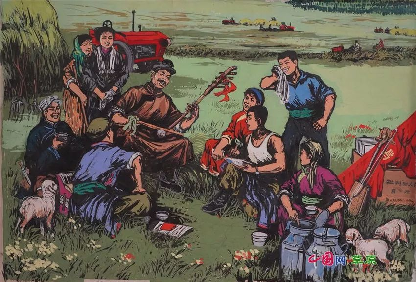 弘扬乌兰牧骑精神 深入生活采风:纸上笔底的科尔沁风情之版画篇(原创组图) 第3张