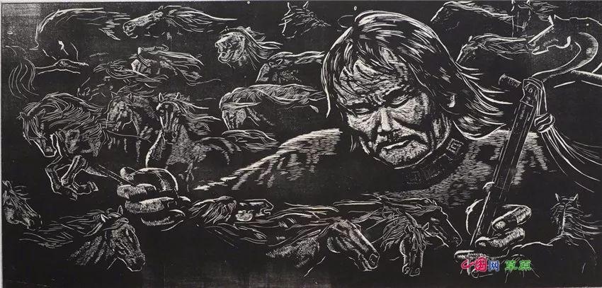 弘扬乌兰牧骑精神 深入生活采风:纸上笔底的科尔沁风情之版画篇(原创组图) 第6张