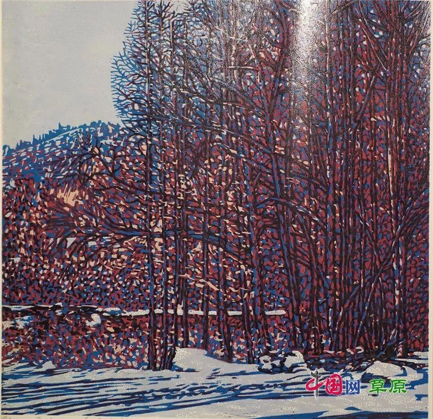 弘扬乌兰牧骑精神 深入生活采风:纸上笔底的科尔沁风情之版画篇(原创组图) 第13张