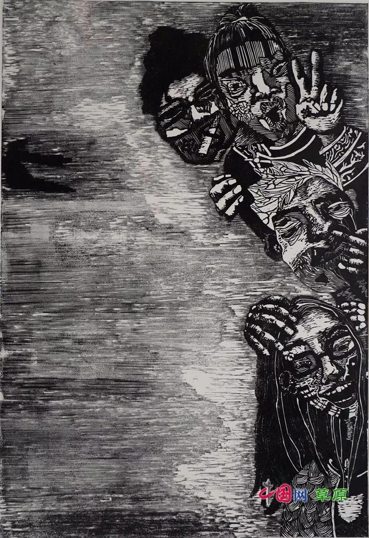 弘扬乌兰牧骑精神 深入生活采风:纸上笔底的科尔沁风情之版画篇(原创组图) 第14张