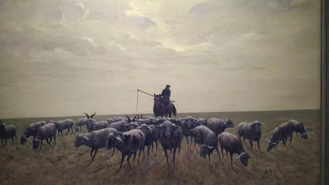 晚秋看画-内蒙古油画作品展-河南郑州站 第16张