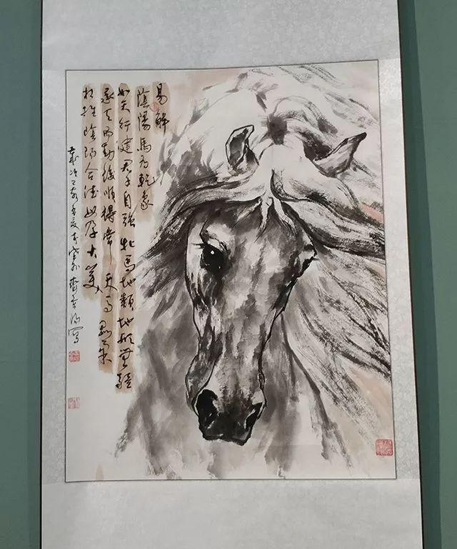 """内蒙古诗书画研究会""""庆祝中华人民共和国成立70周年书画展"""" 第10张"""