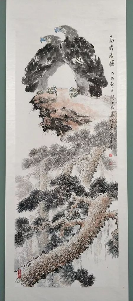 """内蒙古诗书画研究会""""庆祝中华人民共和国成立70周年书画展"""" 第24张"""