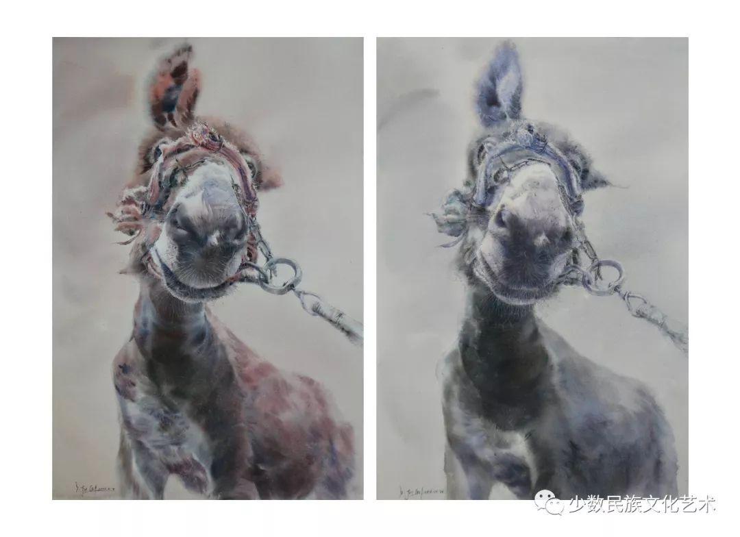 蒙古族青年水彩画家金光作品欣赏 第2张 蒙古族青年水彩画家金光作品欣赏 蒙古画廊