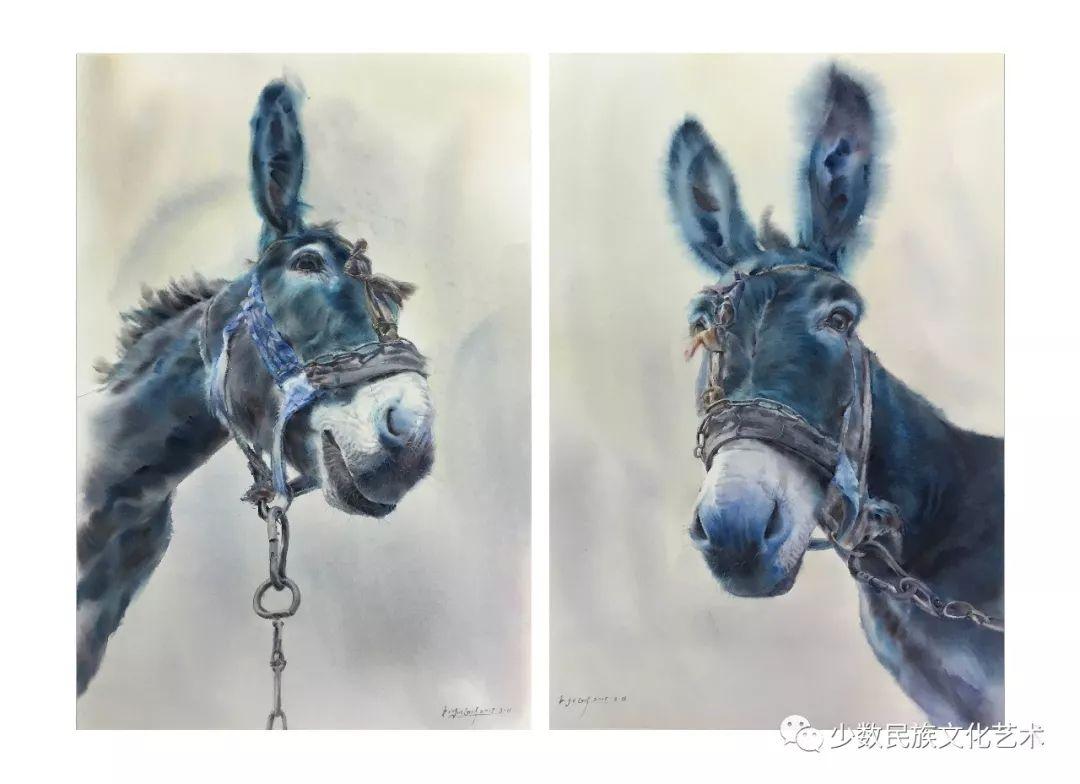蒙古族青年水彩画家金光作品欣赏 第3张 蒙古族青年水彩画家金光作品欣赏 蒙古画廊